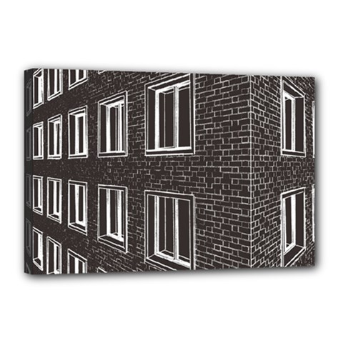 Graphics House Brick Brick Wall Canvas 18  X 12