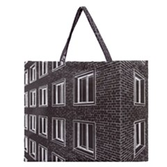 Graphics House Brick Brick Wall Zipper Large Tote Bag by Nexatart