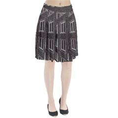 Graphics House Brick Brick Wall Pleated Skirt