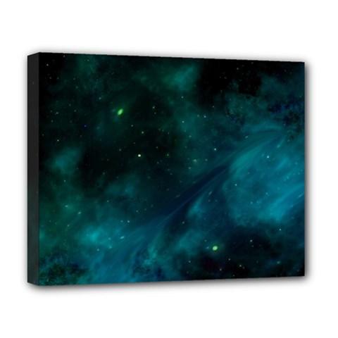 Space All Universe Cosmos Galaxy Deluxe Canvas 20  X 16   by Nexatart