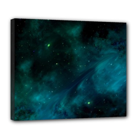 Space All Universe Cosmos Galaxy Deluxe Canvas 24  X 20   by Nexatart