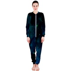 Space All Universe Cosmos Galaxy Onepiece Jumpsuit (ladies)