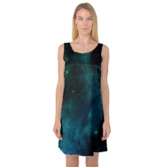 Space All Universe Cosmos Galaxy Sleeveless Satin Nightdress