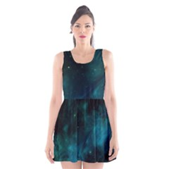 Space All Universe Cosmos Galaxy Scoop Neck Skater Dress by Nexatart