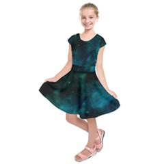 Space All Universe Cosmos Galaxy Kids  Short Sleeve Dress