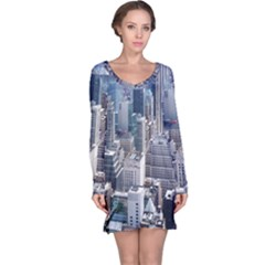 Manhattan New York City Long Sleeve Nightdress
