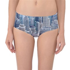 Manhattan New York City Mid Waist Bikini Bottoms