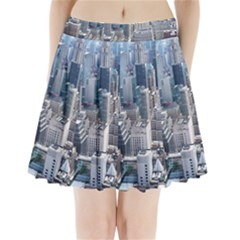 Manhattan New York City Pleated Mini Skirt