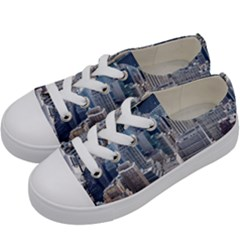 Manhattan New York City Kids  Low Top Canvas Sneakers by Nexatart
