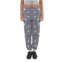Seamless Weave Ribbon Hexagonal Women s Jogger Sweatpants