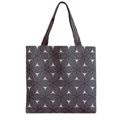 Seamless Weave Ribbon Hexagonal Zipper Grocery Tote Bag by Nexatart