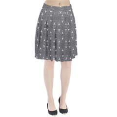 Seamless Weave Ribbon Hexagonal Pleated Skirt
