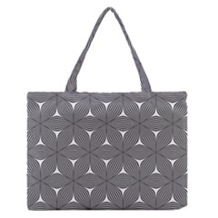 Seamless Weave Ribbon Hexagonal Zipper Medium Tote Bag