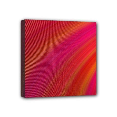 Abstract Red Background Fractal Mini Canvas 4  X 4