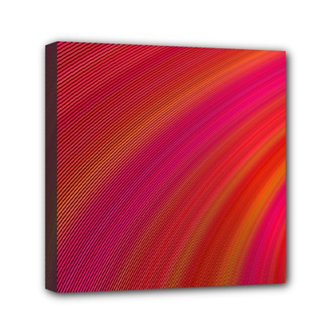 Abstract Red Background Fractal Mini Canvas 6  X 6  by Nexatart