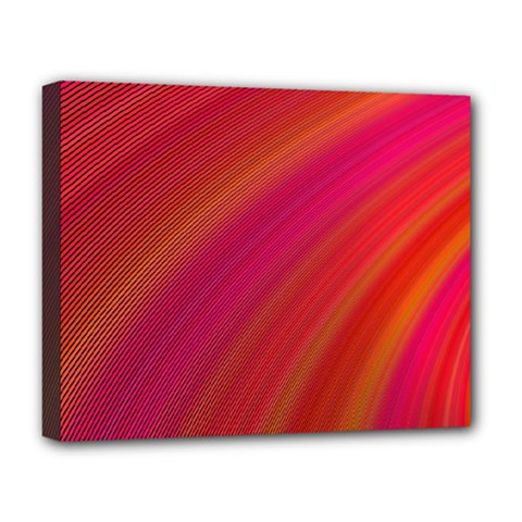 Abstract Red Background Fractal Deluxe Canvas 20  X 16