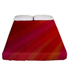 Abstract Red Background Fractal Fitted Sheet (california King Size)