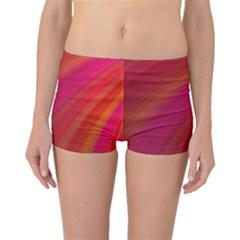 Abstract Red Background Fractal Boyleg Bikini Bottoms