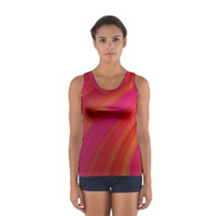 Abstract Red Background Fractal Sport Tank Top