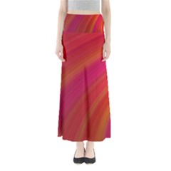 Abstract Red Background Fractal Full Length Maxi Skirt