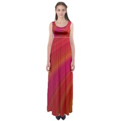 Abstract Red Background Fractal Empire Waist Maxi Dress