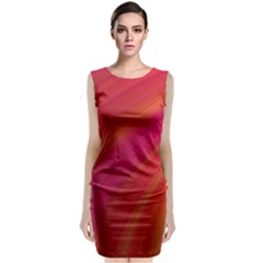 Abstract Red Background Fractal Classic Sleeveless Midi Dress