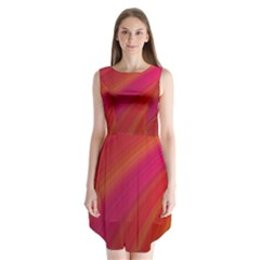 Abstract Red Background Fractal Sleeveless Chiffon Dress