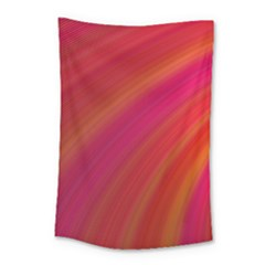 Abstract Red Background Fractal Small Tapestry
