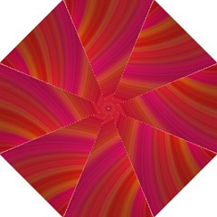 Abstract Red Background Fractal Folding Umbrellas