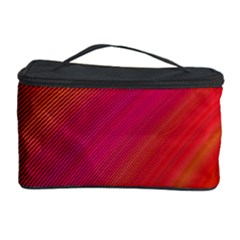 Abstract Red Background Fractal Cosmetic Storage Case by Nexatart