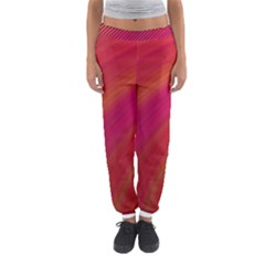 Abstract Red Background Fractal Women s Jogger Sweatpants