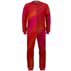 Abstract Red Background Fractal Onepiece Jumpsuit (men)