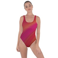 Abstract Red Background Fractal Bring Sexy Back Swimsuit