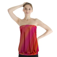 Abstract Red Background Fractal Strapless Top