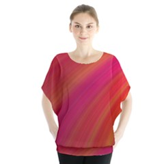 Abstract Red Background Fractal Blouse by Nexatart