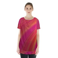 Abstract Red Background Fractal Skirt Hem Sports Top