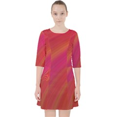 Abstract Red Background Fractal Pocket Dress