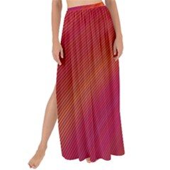 Abstract Red Background Fractal Maxi Chiffon Tie Up Sarong