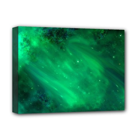 Green Space All Universe Cosmos Galaxy Deluxe Canvas 16  X 12