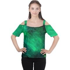 Green Space All Universe Cosmos Galaxy Cutout Shoulder Tee