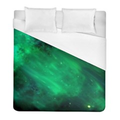 Green Space All Universe Cosmos Galaxy Duvet Cover (full/ Double Size)
