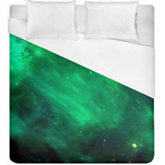 Green Space All Universe Cosmos Galaxy Duvet Cover (king Size)