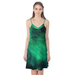 Green Space All Universe Cosmos Galaxy Camis Nightgown by Nexatart