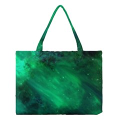 Green Space All Universe Cosmos Galaxy Medium Tote Bag