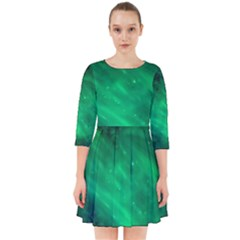 Green Space All Universe Cosmos Galaxy Smock Dress