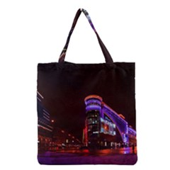 Moscow Night Lights Evening City Grocery Tote Bag by Nexatart