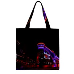 Moscow Night Lights Evening City Zipper Grocery Tote Bag