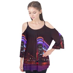 Moscow Night Lights Evening City Flutter Tees