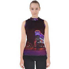 Moscow Night Lights Evening City Shell Top