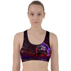 Moscow Night Lights Evening City Back Weave Sports Bra